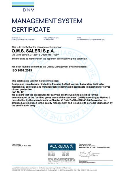 ISO 9001 CERT 00210